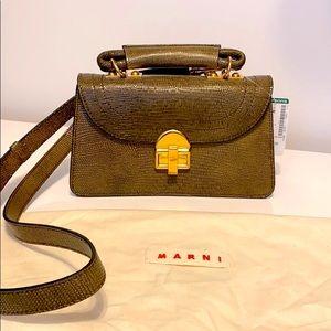 🌸Host Pick🌸Marni NWT Juliette snakeskin bag